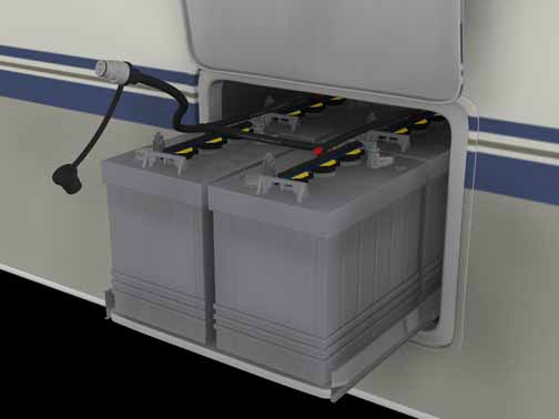 caravan and motor homes battery bank
