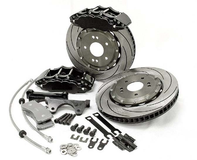 brake rotor, brake pads and brake fluid
