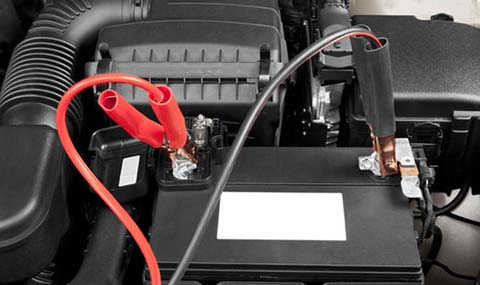car battery jump start connections